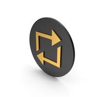 Repeat Gold Icon PNG & PSD Images