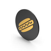 Hot Dog Gold Icon PNG & PSD Images