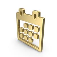 Logo Clock Calendar Gold PNG & PSD Images