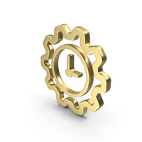 Logo Clock Work Time Gold PNG & PSD Images