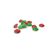 Pile Of Diamonds Red Green PNG & PSD Images