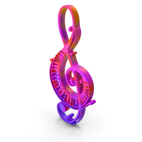 Clef Music Design Piano Colored PNG & PSD Images