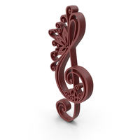 Clef Music Design Brown PNG & PSD Images