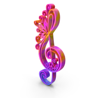 Clef Music Design Colored PNG & PSD Images