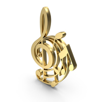Clef Music Design Gold PNG & PSD Images
