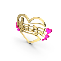 Clef Music Note Heart Color PNG & PSD Images