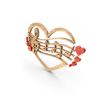 Clef Music Note Heart Wood PNG & PSD Images