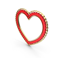Heart Love Frame Gold PNG & PSD Images
