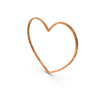 Heart Love Frame  Wood PNG & PSD Images