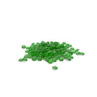 Diamonds Pile Green PNG & PSD Images
