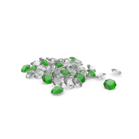 Diamonds Pile White Green PNG & PSD Images