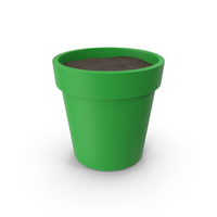 Plant Pot With Soil Green PNG & PSD Images