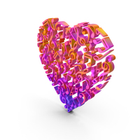 Music Heart Love Color PNG & PSD Images
