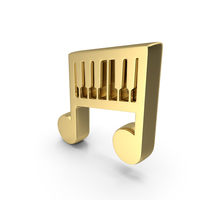 Music Piano Play Gold PNG & PSD Images