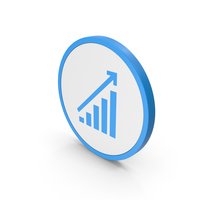 Icon Graph Chart Blue PNG & PSD Images