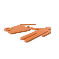 Rubbish Bin Orange Symbol PNG & PSD Images