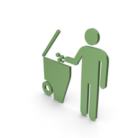 Rubbish Bin Green Symbol PNG & PSD Images