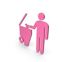 Rubbish Bin Pink Symbol PNG & PSD Images