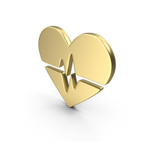 Logo Heart Gold PNG & PSD Images