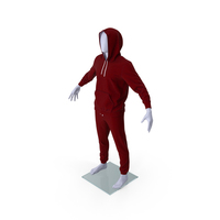 Sportswear Suit Raised Hood on Mannequin PNG & PSD Images