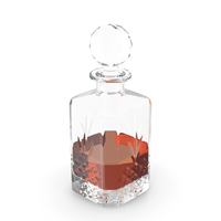Square Crystal Whisky Decanter PNG & PSD Images