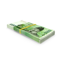 Stack of Korea Republic Won KRW 10000 Banknotes PNG & PSD Images