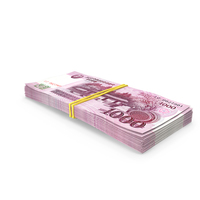 Stack of North Korea 1000 Won PNG & PSD Images