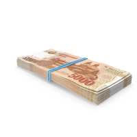 Stack of North Korea 5000 Won 2013 PNG & PSD Images