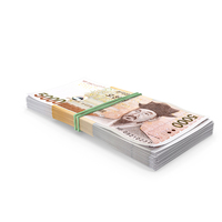 Stack of South Korean 5000 Won PNG & PSD Images