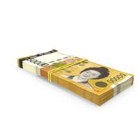 Stack of South Korean 50000 Won Banknotes PNG & PSD Images