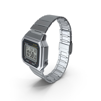 Stainless Steel Electronic Watch PNG & PSD Images