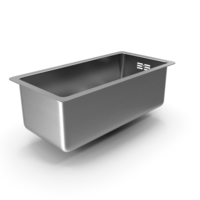 Stainless Steel Narrow Single Bowl Undermount Sink PNG & PSD Images