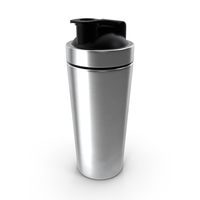 Stainless Steel Protein Shaker Bottle PNG & PSD Images