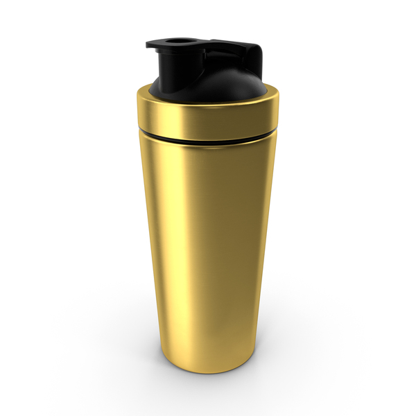 Stainless Steel Protein Shaker Gold PNG & PSD Images