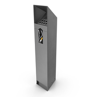 Stainless Steel Street Cigarette Bin PNG & PSD Images