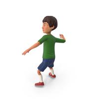 Cartoony Boy Throwing Pose PNG & PSD Images