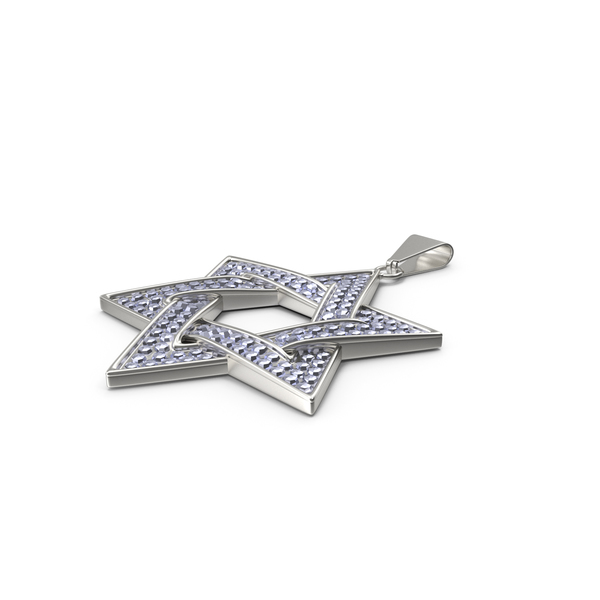 Star of David Necklace with Diamonds PNG & PSD Images