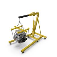 Steel Engine Hoist with V6 PNG & PSD Images