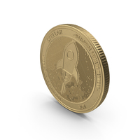 Stellar Lumens XLM Physical Coin Gold PNG & PSD Images
