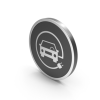 Silver Icon Electric Vehicle Charging PNG & PSD Images