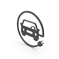 Symbol Electric Vehicle Charging Black PNG & PSD Images