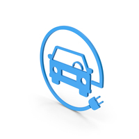 Symbol Electric Vehicle Charging Blue PNG & PSD Images