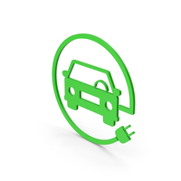 Symbol Electric Vehicle Charging Green PNG & PSD Images