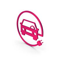 Symbol Electric Vehicle Charging Metallic PNG & PSD Images