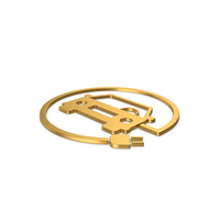 Gold Symbol Electric Vehicle Charging PNG & PSD Images