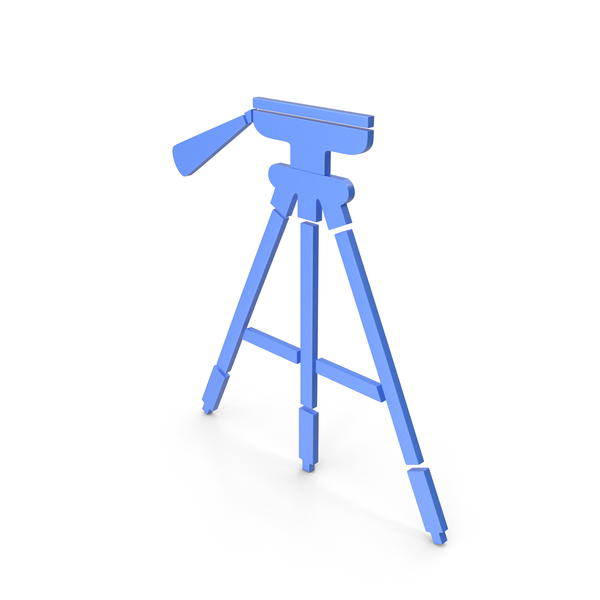 Tripod Blue Icon PNG & PSD Images