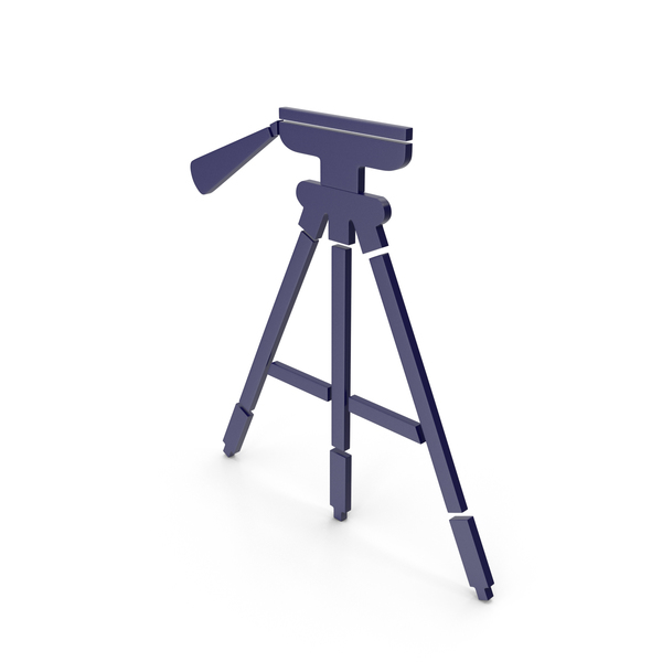 Tripod Dark Blue Icon PNG & PSD Images