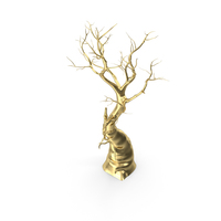 Leafless Tree Golden PNG & PSD Images