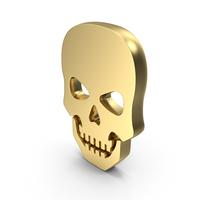 Skull Danger No Entry Gold PNG & PSD Images
