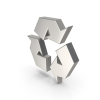 Recycling Icon Silver PNG & PSD Images